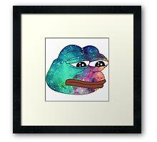 Dank Spicy Pepe Galaxy Framed Print