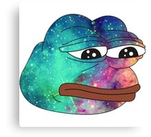 Dank Spicy Pepe Galaxy Canvas Print