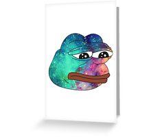 Dank Spicy Pepe Galaxy Greeting Card