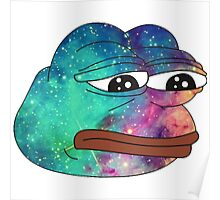 Dank Spicy Pepe Galaxy Poster