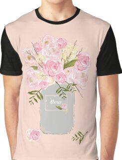 Floral Jar Pink Graphic T-Shirt