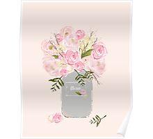 Floral Jar Pink Poster