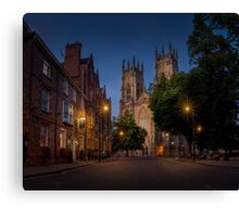 York Minster From Duncombe Place Canvas Print