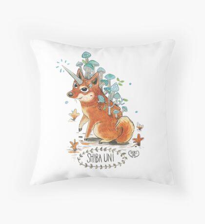 Shiba Uni  Throw Pillow