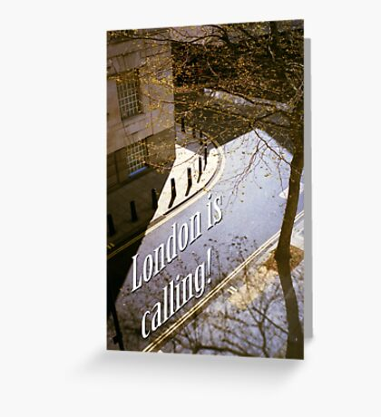 London is calling Greeting Card