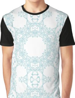Abstract blue design with arabesque ornament Graphic T-Shirt