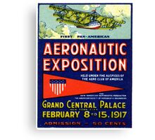 1917 Aviation Exposition Canvas Print