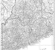 Vintage Map of Maine (1911)  by BravuraMedia