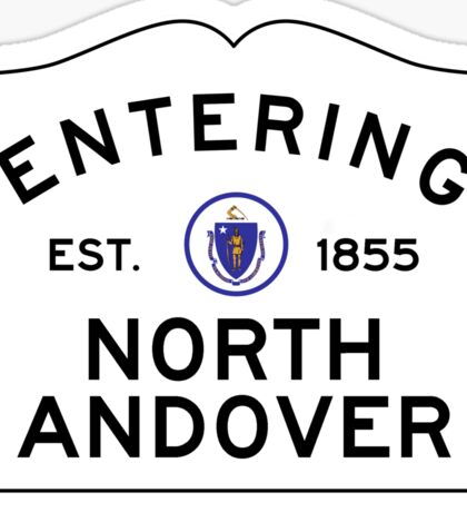 Entering North Andover - Commonwealth of Massachusetts Road Sign Sticker
