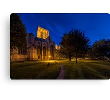 York Minster At Garden Dusk Canvas Print