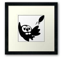 Rowlet Black Framed Print