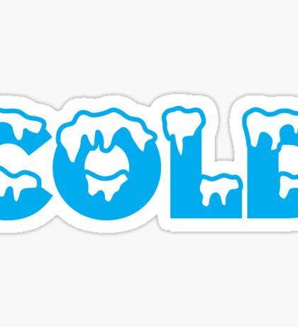 COLD Sticker