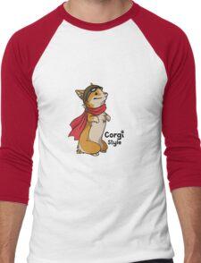 Corgi Style - Doggie Style Men's Baseball ¾ T-Shirt