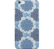 Lacy Blue & Navy Mandala Pattern iPhone Case/Skin