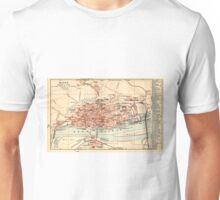 Vintage Map of Mainz Germany (1905) Unisex T-Shirt