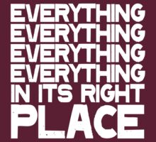 EVERYTHING IN ITS RIGHT PLACE by voided