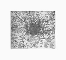 Vintage Map of Manchester England (1911)  Unisex T-Shirt