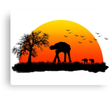 AT-AT. Left to roam free Canvas Print