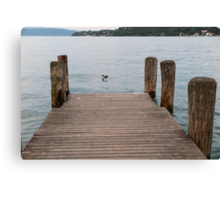 pier on the lake Canvas Print