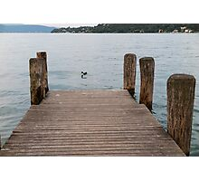 pier on the lake Photographic Print