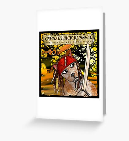 Captain Jack Russell Greeting Card