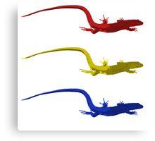 Triple Lizard Canvas Print