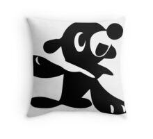 Popplio Black Throw Pillow