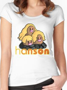 Dugtrio alolan form (Hanson) Women's Fitted Scoop T-Shirt