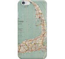 Vintage Map of Cape Cod (1917)  iPhone Case/Skin