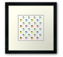 Coffee Pattern Framed Print