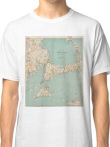 Vintage Map of Cape Cod (1917)  Classic T-Shirt