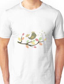 Bird on a tree Unisex T-Shirt