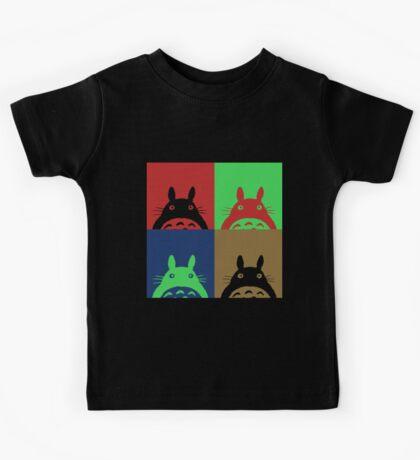 Warhol's Totoro Dark Version Kids Tee