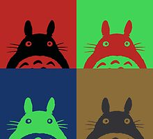 Warhol's Totoro Dark Version by Ednathum
