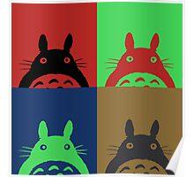 Warhol's Totoro Dark Version Poster