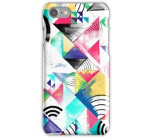 Geometric abstract watercolour  iPhone Case/Skin