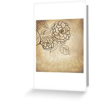 Sketch rose background Greeting Card