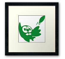 Rowlet Green Framed Print