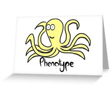 Tentacular yellow phenotype Greeting Card