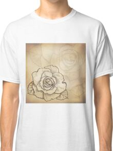 Sketch rose background Classic T-Shirt