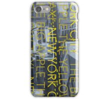 THE YELLOW TAXI iPhone Case/Skin