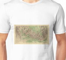Vintage Map of The Grand Canyon (1926) Unisex T-Shirt