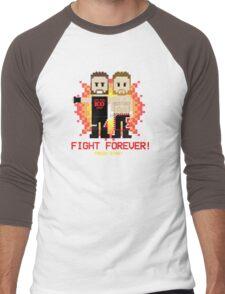 Sami Zayn & Kevin Owens Fight Forever 8-Bit Design Men's Baseball ¾ T-Shirt