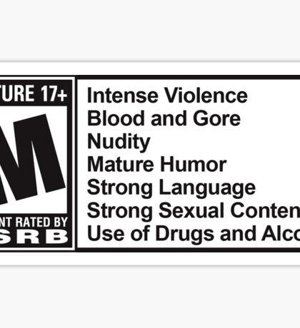Mature rating  Sticker