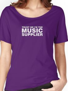 Music supplier (white) Women's Relaxed Fit T-Shirt