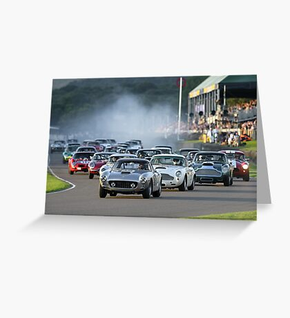 Racing at the Goodwood Revival  Greeting Card