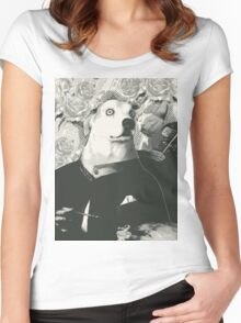 Autoportrait with cat Women's Fitted Scoop T-Shirt