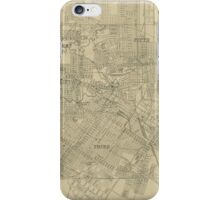 Vintage Map of Downtown Houston (1913) iPhone Case/Skin