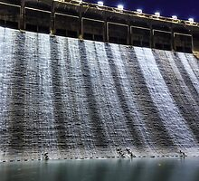 Dam at night in Hong Kong by kawing921