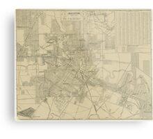 Vintage Map of Downtown Houston (1913) Metal Print